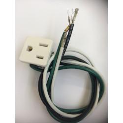 Prise de courant blanc pour cuisinière RR1634